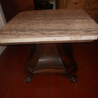 Center table mahogony  marble top . 450 euro